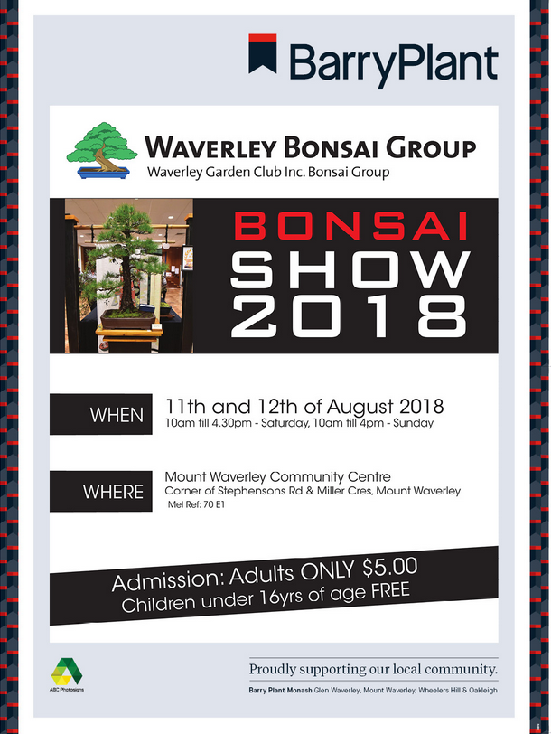 waverley bonsai groug flyer